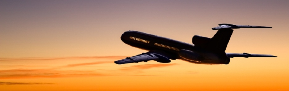 Sunset Airplane Header