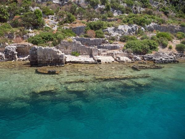 Sunken city ruins