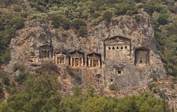 Dalyan Lycian Rock Tombs http://en.wikipedia.org/wiki/Lycia