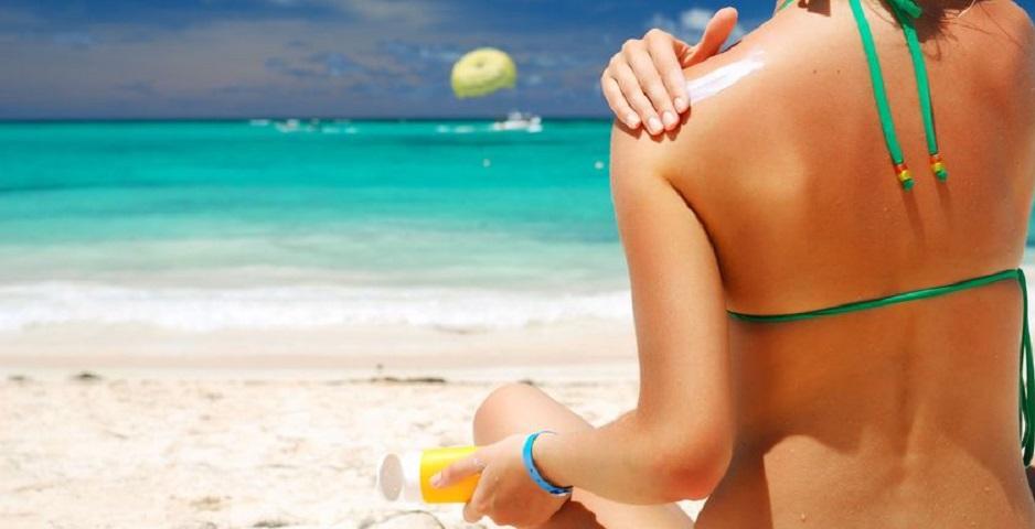 Sun cream beach