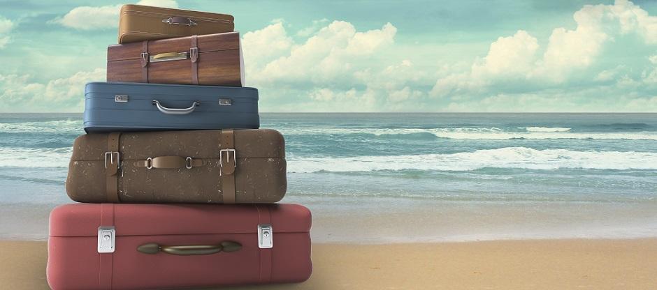 bags on beach