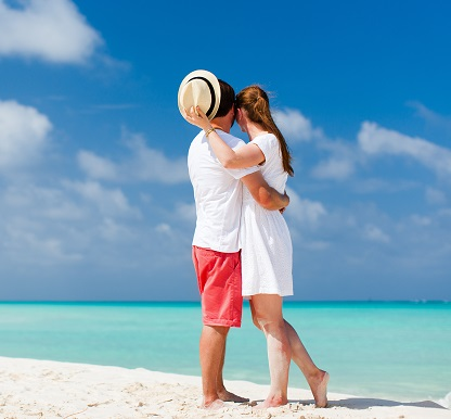 Couple at tropical beach