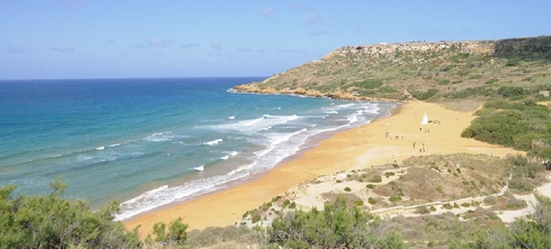 One of many beaches in Gozo - a paradise island