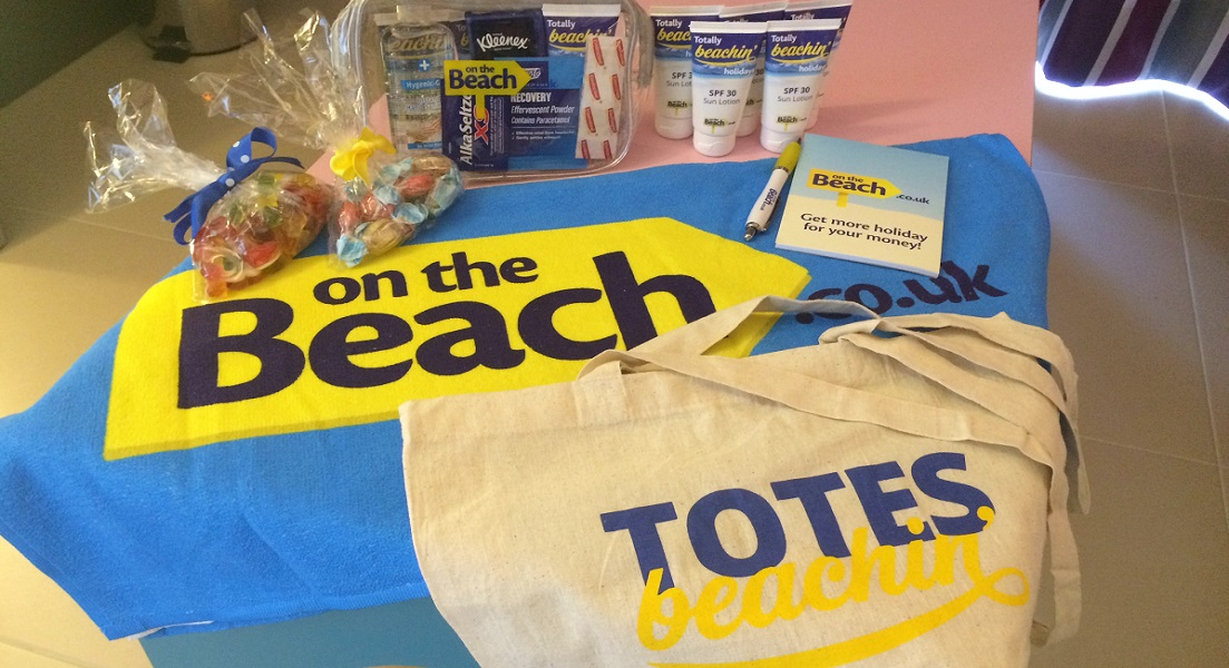 Totally Beachin' welcome pack