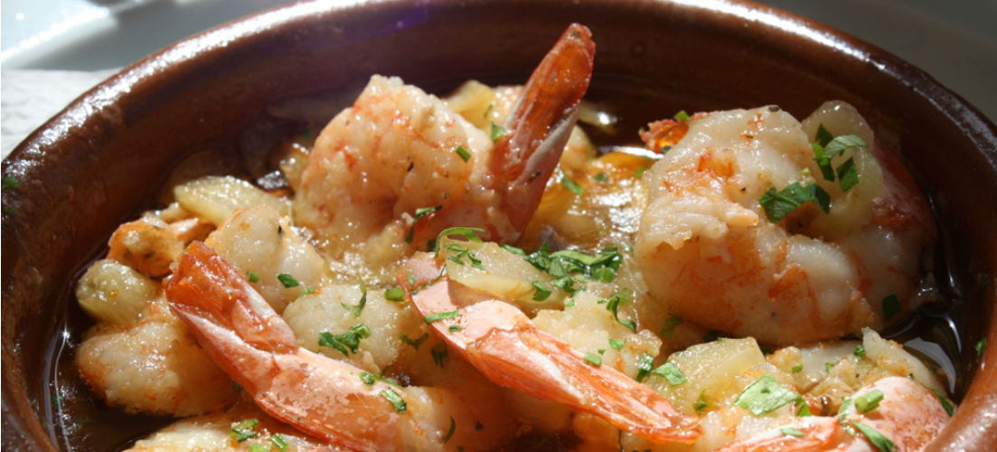 Gambas Pil Pil | #FoodFriday Tapas Dishes | On the Beach