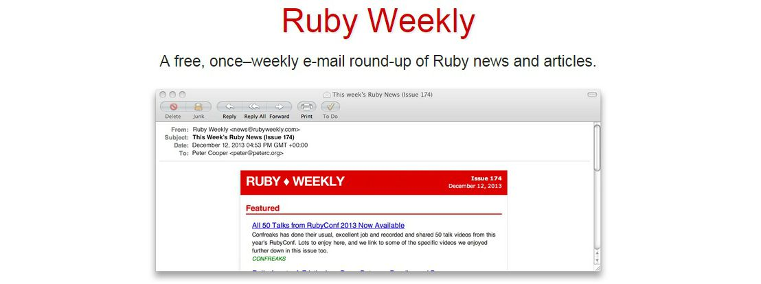 Helpful Ruby Resources - Ruby Weekly