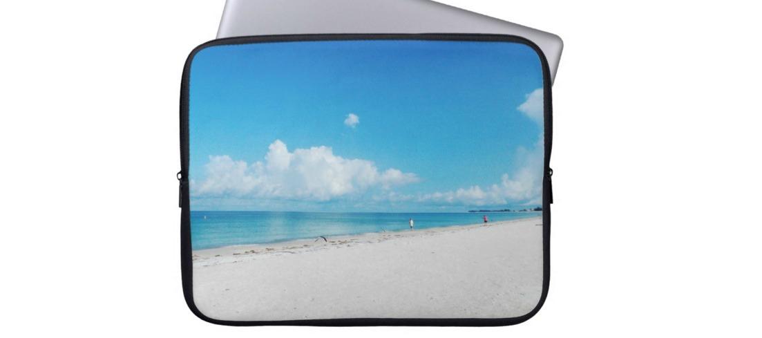 Totally Beachin Laptop Case beach scene