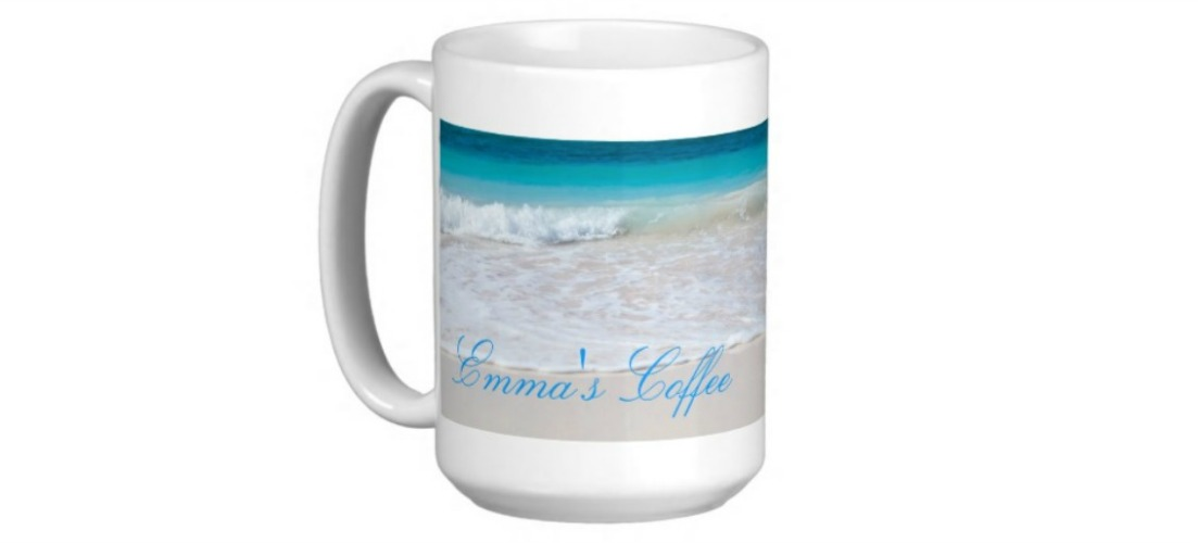 Totally Beachin Mug with name on