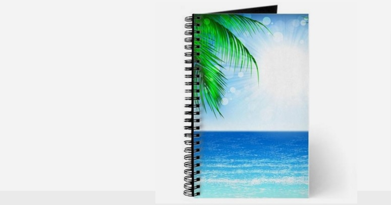 Totally Beachin Notepad with Palm tree