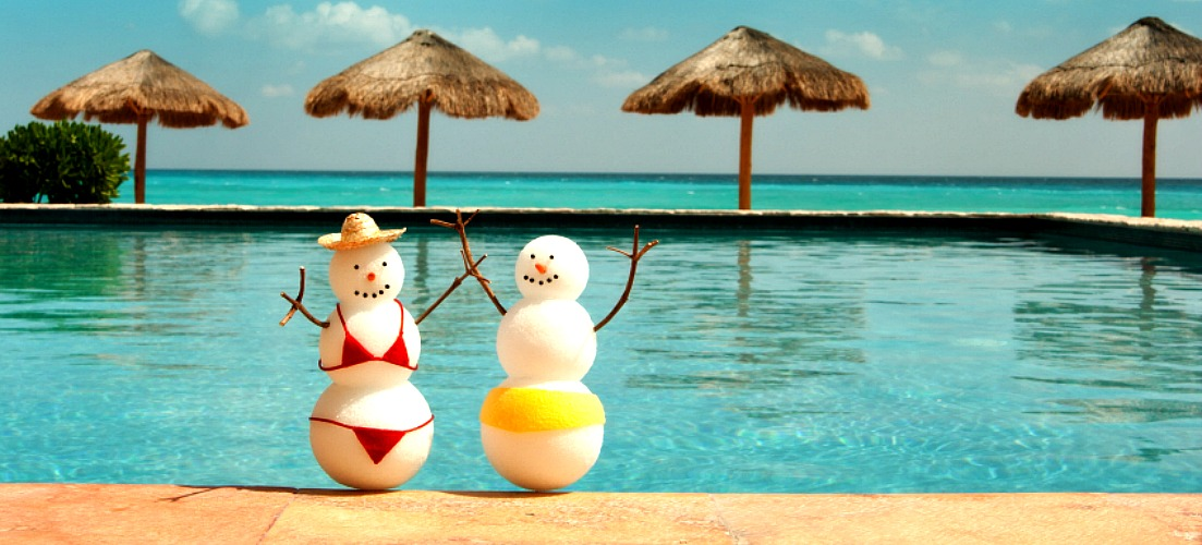 Snowballs on a beach holiday