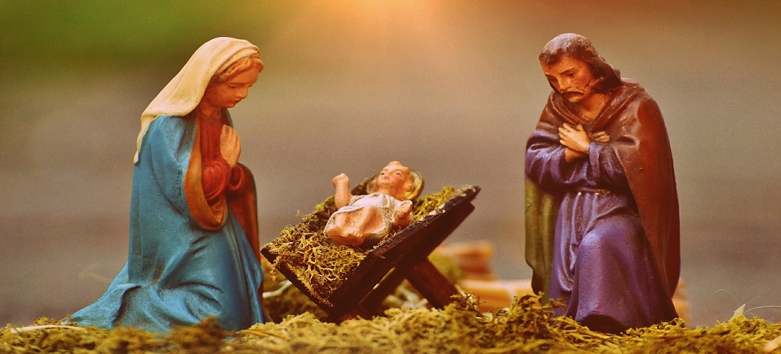 Mary and Joseph figures