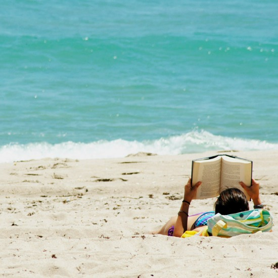 Reading is better on the beach