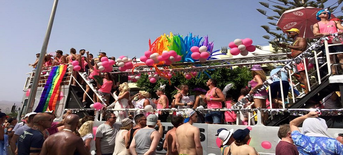 The main parade at Gran Canaria Pride, one of our pride events in the sun
