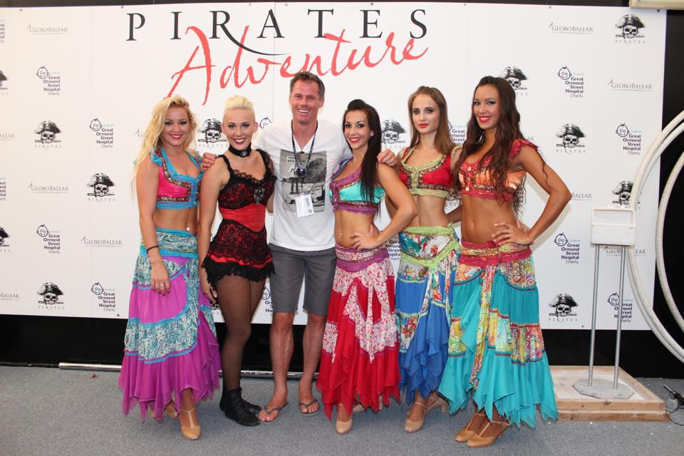 Jamie Carragher - Celebrity 1 at Pirates Reloaded