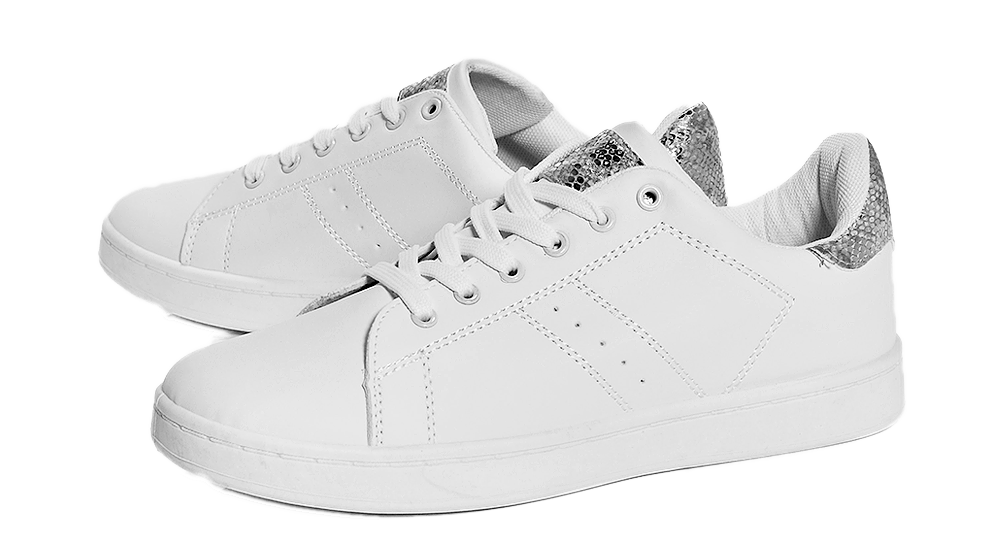 Abbie contrast back lace-up trainer