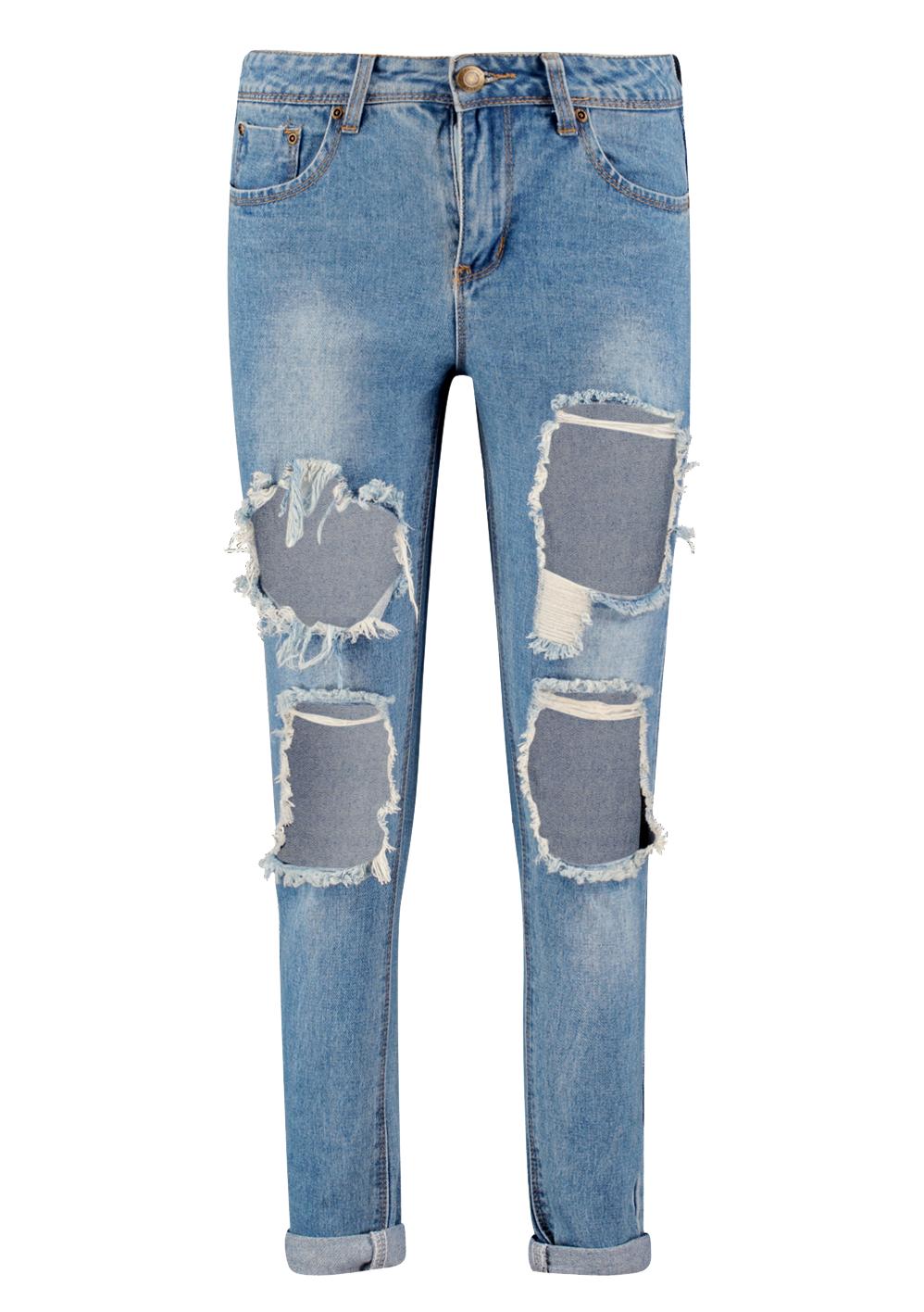 Jenni low rise cheeky rip boyfriend jeans