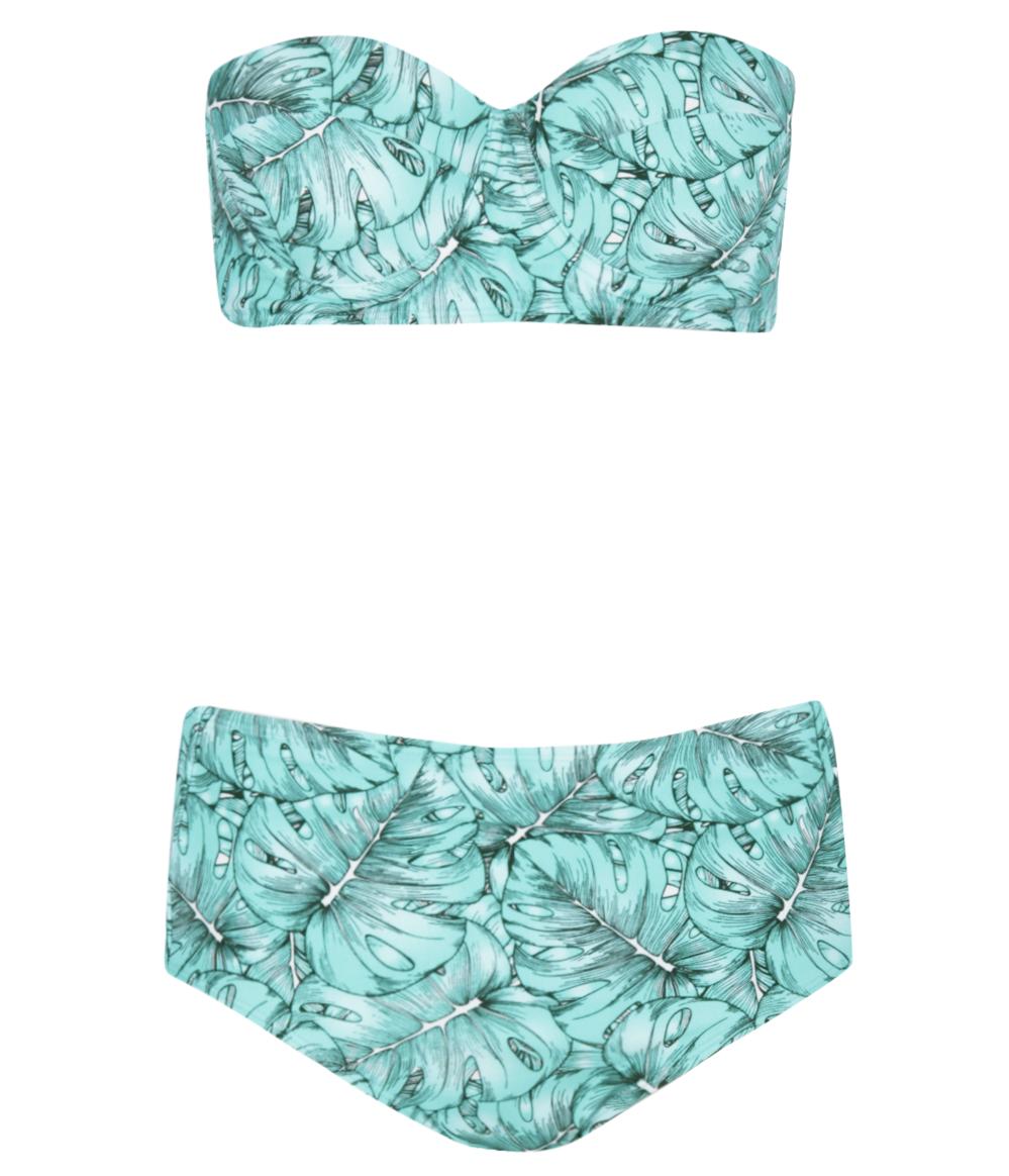 Angola digital scatter high waist bikini