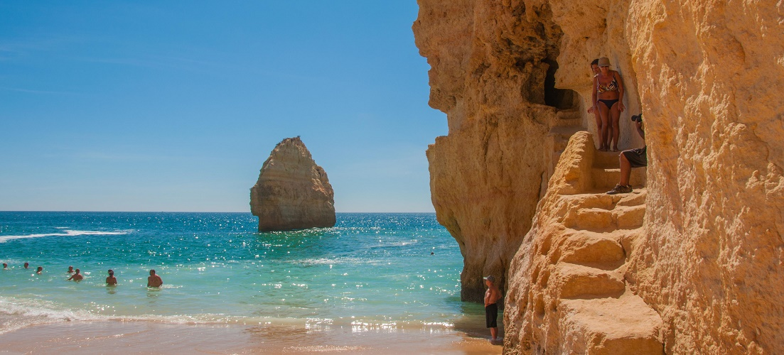 One of the blue flag beaches in the Algarve