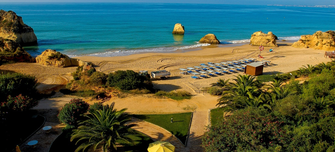 One of the 88 blue flag beaches in the Algarve