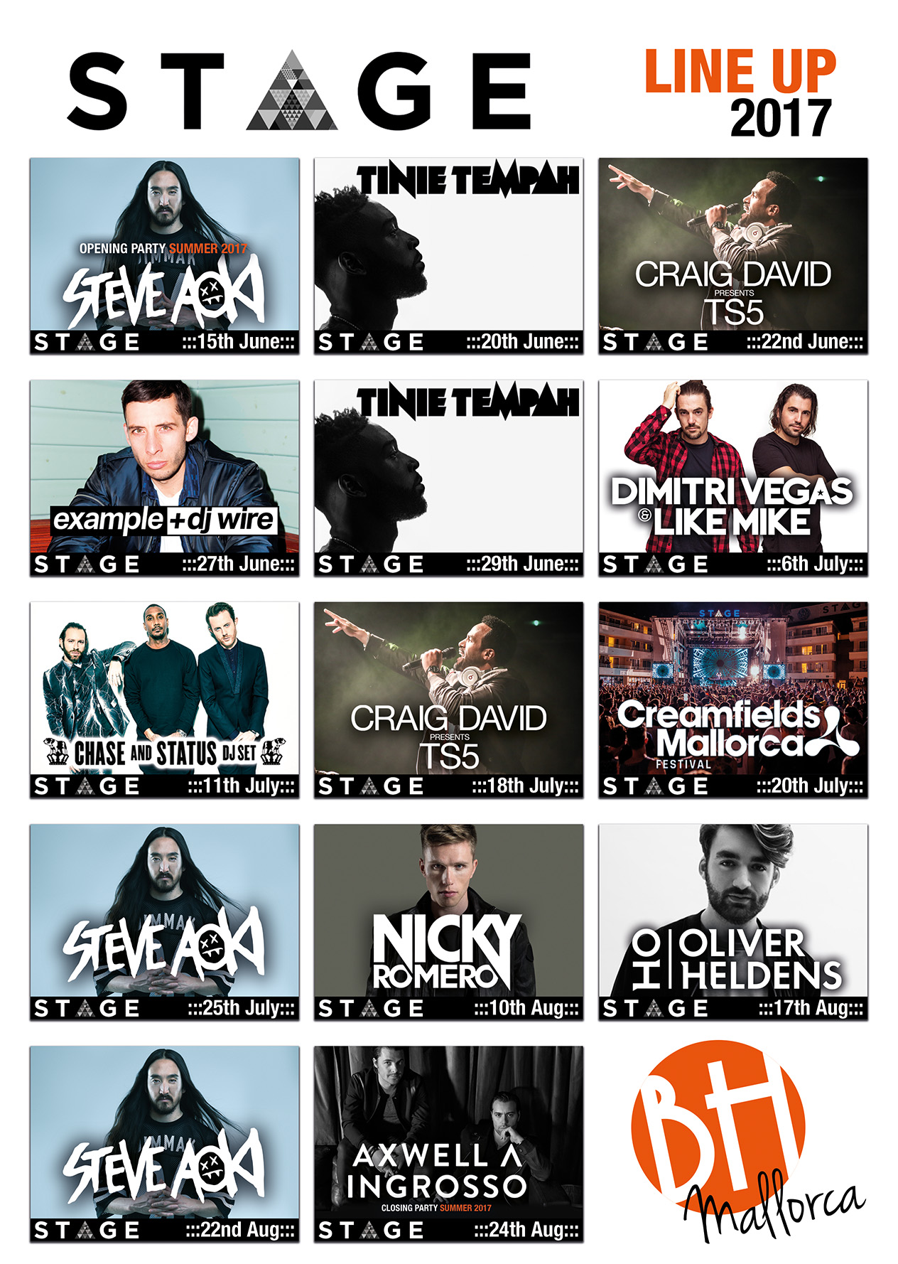 The full line up of the BH Mallorca for summer 2017