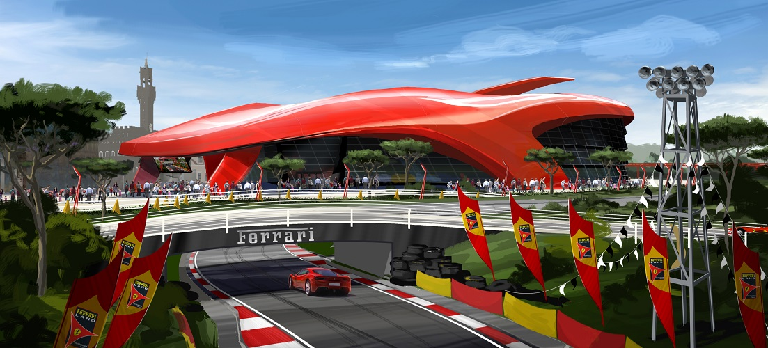 The Fastest Car In The World 2017 >> Five Fun Facts About the Rides at Ferrari Land - On the BeachFive Fun Facts About the Rides at ...