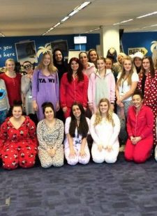 Wearing our pyjamas for Red Nose Day!