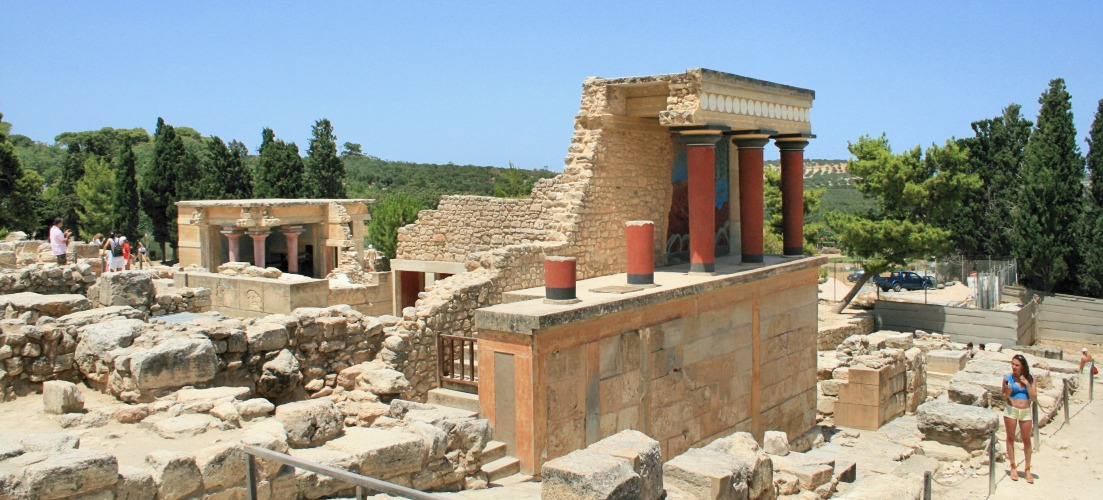Palace of Knossos in Crete