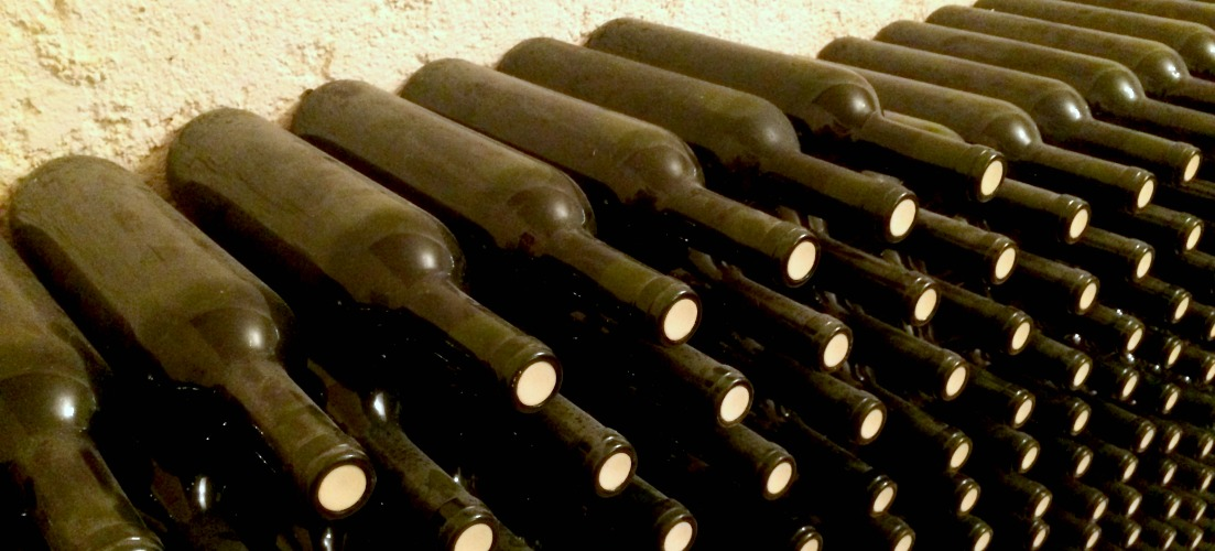 wine aging in bottles at stilianou winery